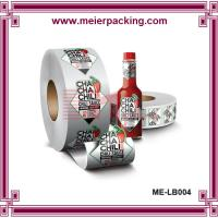 Buy cheap PET printing Chilli food packing bottle self adhesive sticker in roll packing from wholesalers