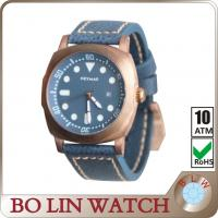 Buy cheap Domed Thick Sapphire Crystal Mens Big Face Designer Watches With Blue Dial from wholesalers