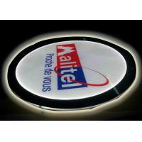 Buy cheap Crystal Round Picture Frame LED Illuminated Light Box For Display Portriat Image from wholesalers