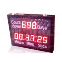 Buy cheap Outdoor Led Digital Clock Large Display With Wireless Remote Controller from wholesalers