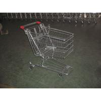 Buy cheap European Type Supermarket Shopping Carts with PU casters , shopping trolley cart from wholesalers