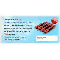 Buy cheap Compatible Canon 301BK/301C/301M/301Y Color Toner Cartridge from wholesalers