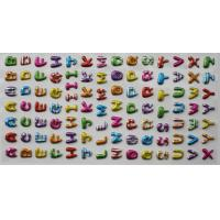 Buy cheap Custom Puffy Alphabet Stickers 3D Glitter With Silk Printing from wholesalers
