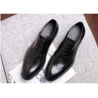 Buy cheap Narrow Style Mens Leather Oxford Shoes , Comfy Modern Office Mens Shoes from wholesalers