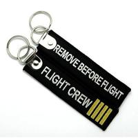 Buy cheap Remove Before Flight Flight Crew Fashion Embroidery Key Chain Key Ring Keychain Key Tag from wholesalers