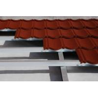 Buy cheap residential Brick red Colorful Metal Roofing Tiles Classical Flat ISO / 1090mm * 380mm from wholesalers