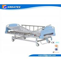 Buy cheap Double Rocker Manual medical adjustable bed with Aluminum alloy handrail for Clinic from wholesalers