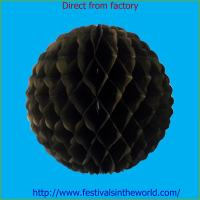 Buy cheap china decoration honeycomb ball for party black from Wholesalers