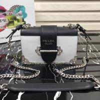 Buy cheap Prada Cahier leather shoulder bag 1BH018 original chain bag with synthetic crystals replica cheap pink white black from wholesalers