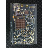 Buy cheap 1.6mm Thickness Double Sided PCB 6 OZ FR4 Laminate With Black Solder Mask from wholesalers
