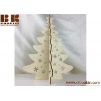 Buy cheap Artificial Christmas tree Stand Ornaments Party Decoration wooden gift from wholesalers