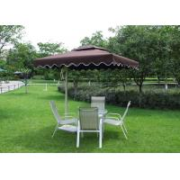 Buy cheap 2.5 M Square Offset Patio Umbrella Stainless Steel Frame For Restaurants product