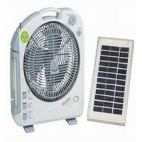 China Fashionable Portable Outdoor Solar Fan with LED on sale