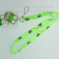 Buy cheap Printed polyester id card holder lanyard with printed plastic pocket from wholesalers