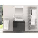 Buy cheap Classic Black Waterproof Single Bathroom Vanity With White Big Sink from wholesalers