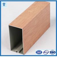 Buy cheap Wood finish aluminum powder coated profile for architectural aluminium profile from wholesalers