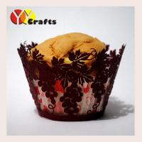 Buy cheap Delicate Laser Cut Cupcake Wrappers grape design for wedding birthday party from wholesalers