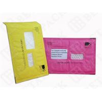 Green / Pink Kraft Bubble Mailer , Window DVD Mailer Envelopes