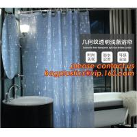 Buy cheap Mould Proof Waterproof white and black trellis design pvc custom bath curtain printed shower curtain, High quality Polye from wholesalers