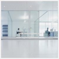 Buy cheap 6 mm Clear or Frosted tempered glass office partition walls from wholesalers