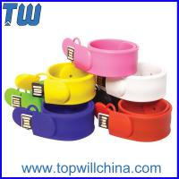 Buy cheap Fashion Silicone Clap Wristband 8GB 16GB Thumb Drive for Kids from wholesalers
