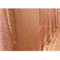 Buy cheap Concert Halls Drapery Copper Ring Mesh Chainmail Type 1mm Dia 8mm Aperture from wholesalers