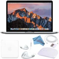 Buy cheap Apple 128GB SSD 13.3 MacBook Pro (Space Gray) MPXQ2LL/A + White 2.4 GHz Slim Optical Wireless Bluetooth Mouse from wholesalers
