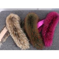 Buy cheap Raccoon fur collar Luxury Real Long Raccoon Fur Detachable Collar for Jacket from wholesalers