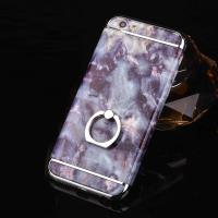 Buy cheap Hard PC 3 in 1 Plating Border Marble Grains Ring Buckle Cell Phone Case Cover For iPhone 7 7 Plus 6 6s Plus from wholesalers