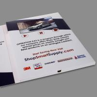 Buy cheap Small Digital Flip Book Video / Promotional Video Brochure CMYK Printing from wholesalers
