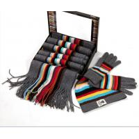 Buy cheap Real Madrid knitted set ---- hat gloves scarf set from wholesalers