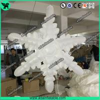 Buy cheap 1.5m 210T Polyester Cloth White Inflatable Snowflake For Christmas Decoration from wholesalers
