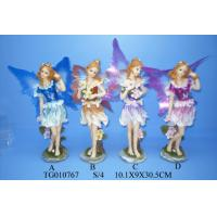 Buy cheap Wedding Decorations Fairy Polyresin Figurine Resin Crafts With Skirts And Wings from wholesalers