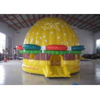 Buy cheap Yellow Giant Inflatable Bouncer Castle Hamburger Shaped 0.55 PVC Tarpaulin from wholesalers