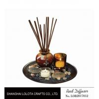 Buy cheap Brown Room Reed Diffuser For Large Room , Ceramic Aromatherapy Diffuser product