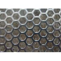 Buy cheap Galvanized Perforated Metal Mesh Hexagonal / Round Hole 3mm - 200mm Aperture product