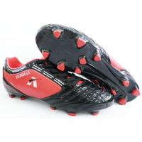 Buy cheap Red / Black Outdoor Soccer Cleats With Waterproof For Hard Ground from wholesalers