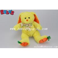 Buy cheap 9.5 Baby Gift Toy Yellow Plush Stuffed Bunny With Embroidery Carrot Feet from wholesalers