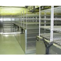 Buy cheap Custom Made High Density Storage System , Sliding Wire Shelving With Floor Track from wholesalers