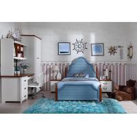 Custom Childrens Bedroom Furniture Sets Korea Style With Veneer / Solid Wood