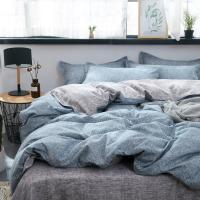 Buy cheap 3/4pcs Bedding Sets Aloe Cotton Gray Brief Style Duvet Cover Flat Bed Sheet Comforter Bed Linen Set With Pillowcase Home from wholesalers
