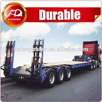 Buy cheap High quality Lowboy trailer/40T Lowbed trailer/Excavator transport semi trailer low bed semi trailer dimensions from wholesalers