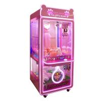 Buy cheap Pink Gift Toy Crane Machine With Metal / Tempering Glass Material from wholesalers