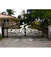 China wrought iron gate on sale