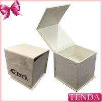 Buy cheap Special Paper White Black Leatherette Hinged Folding Foldable Jewellery Jewelry Box with  Sponge Pad from wholesalers