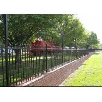 Buy cheap Heavy Duty Black Steel Fence For Commercial Project OEM / ODM Available from wholesalers