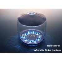 Buy cheap White Portable Inflatable Solar Lantern Waterproof Outdoor Led Camping Light from wholesalers
