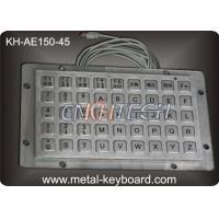 45 Keys Liquid proof / Vandalproof industrial keyboards in metal , USB interface