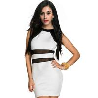 Buy cheap Sexy Fashion Party Mini Tight Women's Casual Dresses Round Collar Sleeveless from wholesalers