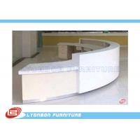 Buy cheap Commercial White MDF ARC Reception Desk For Public Service , Student Information Desk from wholesalers